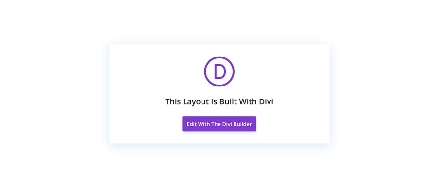 This layout is build with Divi  - edit with the Divi Builder